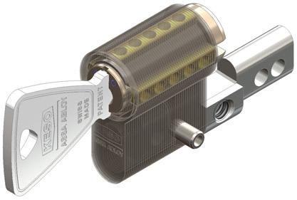 KESO 41.228 mit Kernziiehschutz und erhöhtem Aufbohrschutz