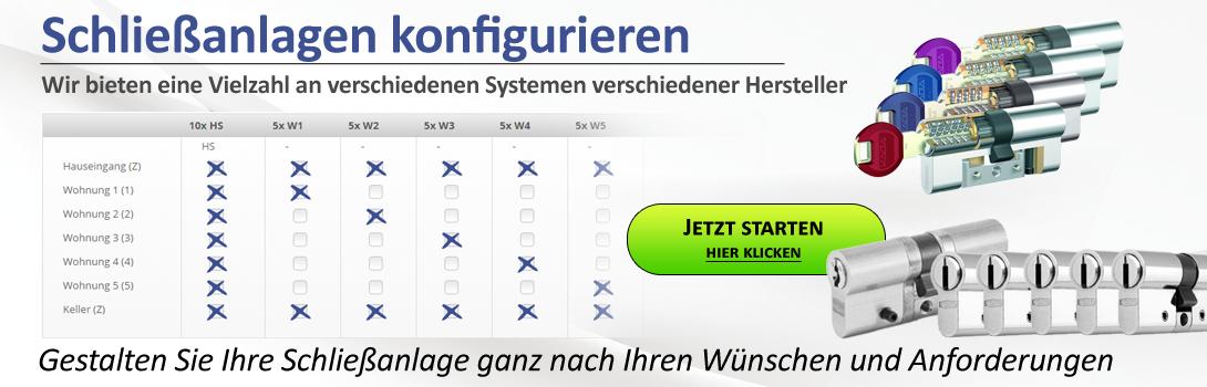 Schliessanlagen Konfigurator