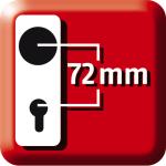 für Wohnungstüren 72 mm
