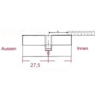 Zylinderlänge Asymetrisch