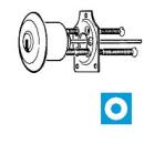 Keso 42.007 Außenzylinder für Zusatzschloss...