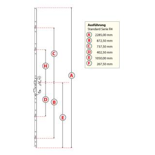 GU Mehrfachverriegelungen Secury R4 mit 4 Rollzapfen 92-45-20-10
