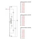 KFV Mehrfachverriegelung AS 8250 mit 4 Rollzapfen...