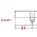 Größe Außen 25mm (Innen ab 35mm)