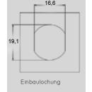 Einbaulochung 19 mm 83-3-032 (Lieferzeit ca.14 Tage)