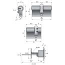 Abus Profilzylinder EC550 Wendeschlüssel, Not und Gefahrenfunktion