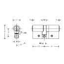 Keso 8000 Omega² Doppelzylinder asymmetrisch 81.B65 Basic plus mit Ziehschutz EN1303 WD D