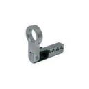 Halbzylinder-Steg Chrom-Nickel-Stahl für Längen 65+65 mm 65 mm
