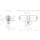 KESO Doppelzylinder Rund 22mm (CH) 8000S Omega²  81.J15