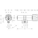KESO Drehknopfzylinder Rund 22mm (CH) 8000S Omega²...