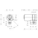 KESO Halbzylinder Rund 22mm (CH) 8000S Omega²  81.J12