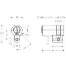 KESO Halbzylinder Rund 22mm (CH) 8000S Omega²...