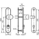S418 Stahl-Schutzbeschlag mit Zylinderabdeckung...