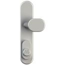 GEMINY ES1-Beschlag mit Zylinderschutz, 72 mm, Rund, Drücker / Knopf