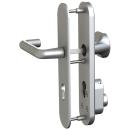 GEMINY ES1-Beschlag mit Zylinderschutz, 72 mm, Eckig, Drücker / Knopf