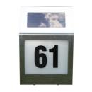 Solar Hausnummern Leuchte in Edelstahl