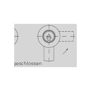 Schließweg H - oben geschl.-rechts offen