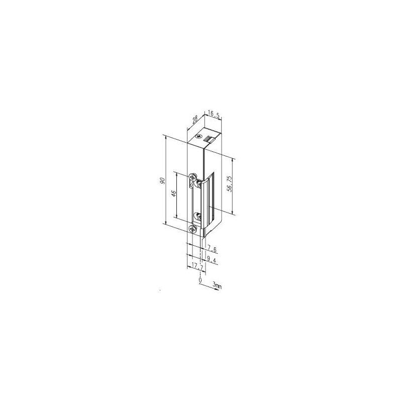 elektro t r ffner mit mechanischer entriegelung ef eff 19 e links 98 96. Black Bedroom Furniture Sets. Home Design Ideas