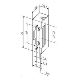 elektro t r ffner mit mechanischer entriegelung eff eff 17 e 79 97. Black Bedroom Furniture Sets. Home Design Ideas