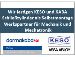 Wir fertigen KESO und KABA Schließzylinder