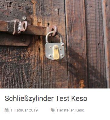 Schliesszylinder Testsieger Keso